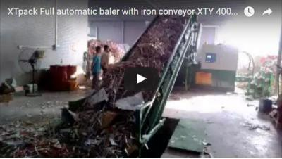 Full Automatic Baler With Iron Conveyor XTY 400W7280 With Conveyor