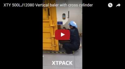 XTY 500LJ12080 Vertical Baler with Cross Cylinder