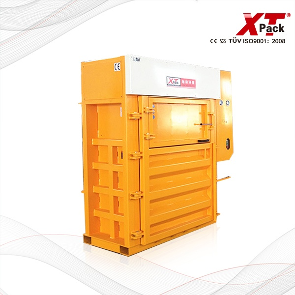 Cardboard Baler with Cross Cylinder