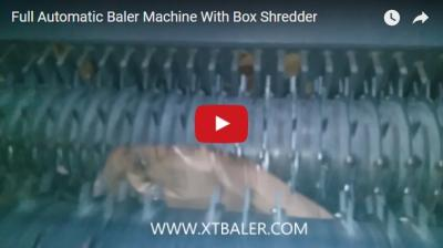 Full Automatic Baler Machine With Box Shredder