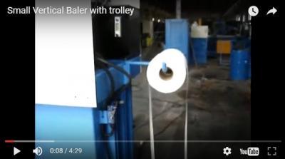 Small Vertical Baler with Trolley