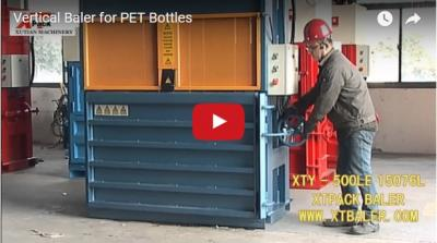 Vertical Baler for PET Bottles