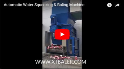 Automatic Water Squeezing & Baling Machine