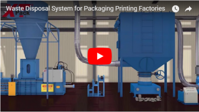 Waste Disposal System for Packaging Printing Factories